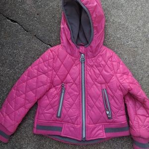 Micheal Kors Toddler Pink & Grey Jacket Size 2T